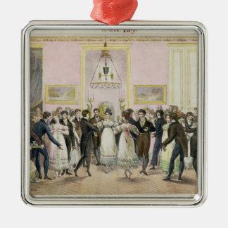 Una bola de la sociedad, grabada por Charles Ornamentos Para Reyes Magos