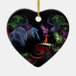 Una bola de las hadas adorno de cerámica en forma de corazón