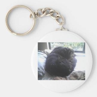 Una bola del perrito llavero redondo tipo pin