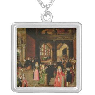 Una bola durante el reinado de Enrique IV Colgante Cuadrado