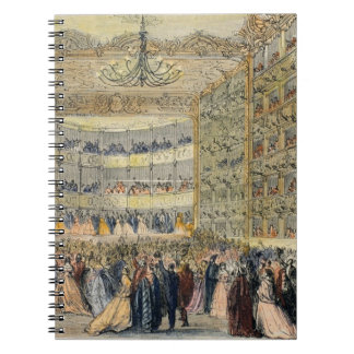 Una bola enmascarada en el teatro de Fenice, Venec Libro De Apuntes