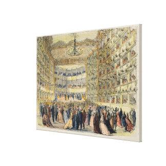 Una bola enmascarada en el teatro de Fenice, Venec Impresiones En Lona