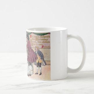 Una bola pasada de moda del navidad taza de café