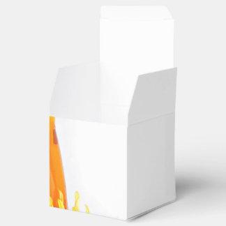 Una botella de líquido y de objetos de la limpieza caja para regalos