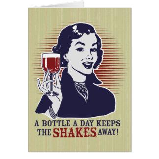 Una botella una tarjeta de Personalizable del día