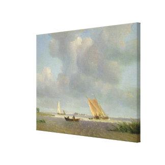 Una brisa fresca en el Elba, c.1830 Impresión En Lona Estirada