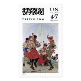 Una buena muestra toda en todo el mundo sellos postales