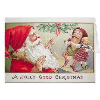 Una buena tarjeta de felicitación alegre del
