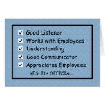 Una buena tarjeta del día de Boss Boss