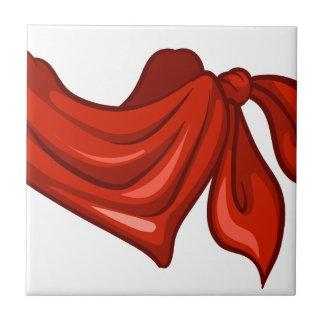 Una bufanda roja azulejos cerámicos