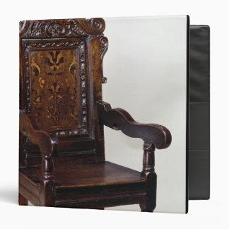 """Una butaca de Charles I, mediados de 1600s Carpeta 1 1/2"""""""