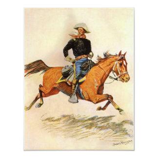 Una caballería manda por Remington, militar del Invitación 10,8 X 13,9 Cm