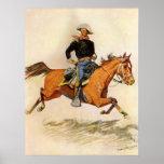 Una caballería manda por Remington, militar del Poster