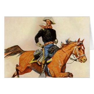 Una caballería manda por Remington, militar del Tarjeta De Felicitación