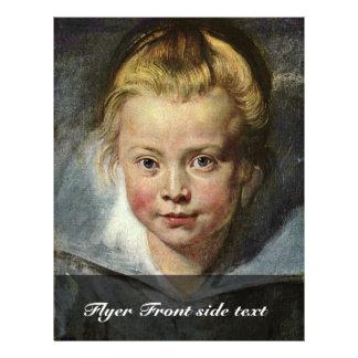 """Una cabeza de los niños (retrato de Clara Serena Folleto 8.5"""" X 11"""""""
