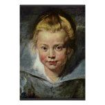 Una cabeza de los niños (retrato de Clara Serena R Posters