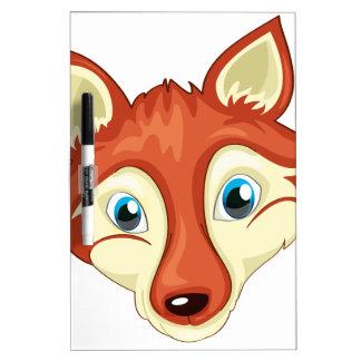 Una cabeza de un zorro pizarra