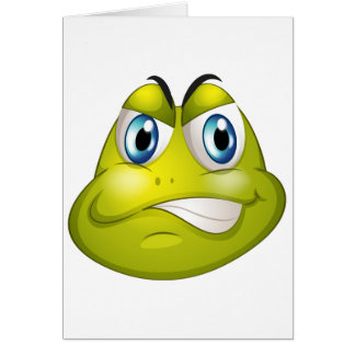 Una cabeza de una tortuga tarjeta de felicitación