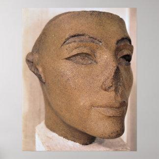Una cabeza real, posiblemente de Nefertiti, de Póster