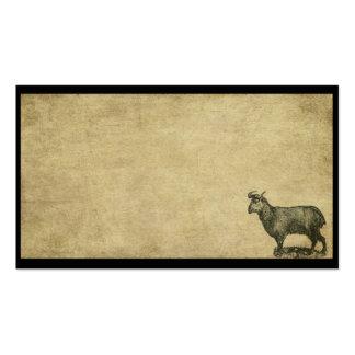 Una cabra Lookin para algunas tarjetas de visitas  Plantillas De Tarjeta De Negocio