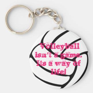 Una cadena dominante del voleibol maravilloso llavero redondo tipo pin