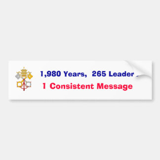 Una cadena intacta de líderes etiqueta de parachoque