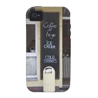 una cafetería con un café a ir muestra iPhone 4/4S funda