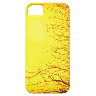 Una caja amarilla vibrante enrrollada del iphone 5 iPhone 5 Case-Mate carcasas