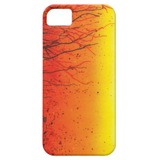 Una caja anaranjada del móvil 5 del iphone dos del iPhone 5 Case-Mate fundas