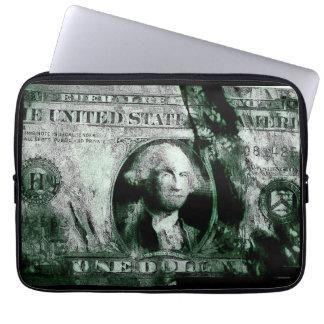 Una caja del ordenador portátil del dólar mangas computadora