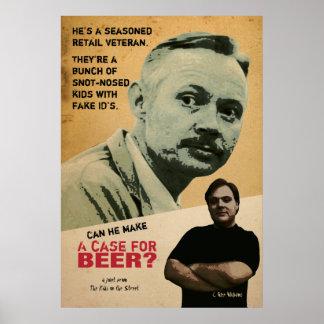 Una caja para la cerveza - lona poster