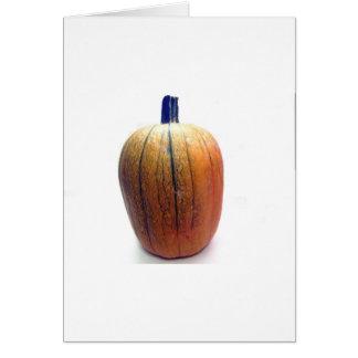 Una calabaza anaranjada tarjeta de felicitación