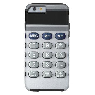 Una calculadora de plata funda de iPhone 6 tough