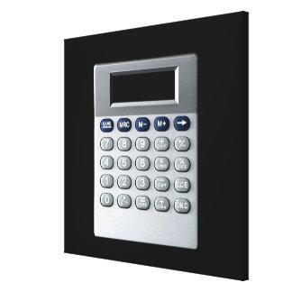 Una calculadora de plata impresiones en lienzo estiradas