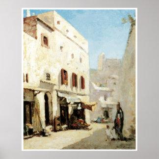 Una calle en Argel, Albert 1875 Lebourg Póster