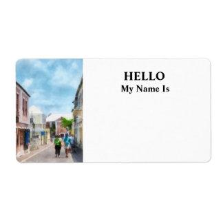 Una calle en Bermudas de San Jorge Etiquetas De Envío