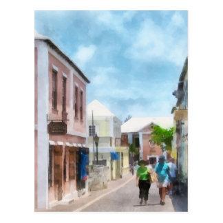 Una calle en Bermudas de San Jorge Tarjetas Postales
