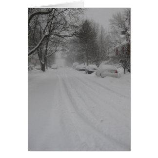 Una calle nevosa de Troy Tarjeta De Felicitación