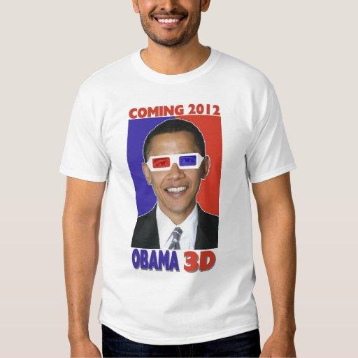 Una camiseta 3D de Barack Obama 2012 Remeras