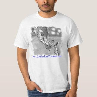 Una camiseta alta de la jirafa remeras