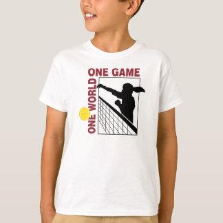 Una camiseta del voleibol del juego del mundo uno