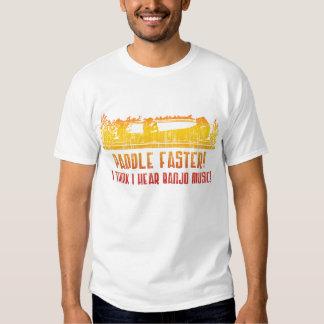 Una camiseta más rápida de la canoa de la paleta playeras