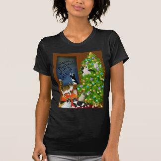 Una camiseta menuda del navidad del gato del gatit
