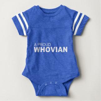 Una camiseta orgullosa de WHOVIAN Mameluco De Bebé
