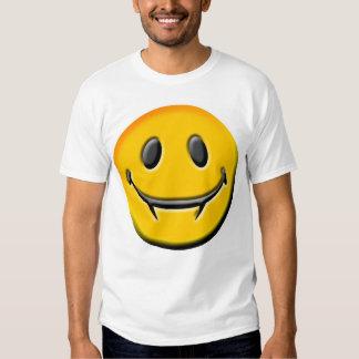¡Una camiseta sonriente con la MORDEDURA! Playeras