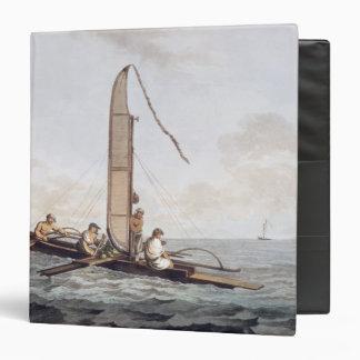 """Una canoa de la navegación de Otaheite Carpeta 1 1/2"""""""