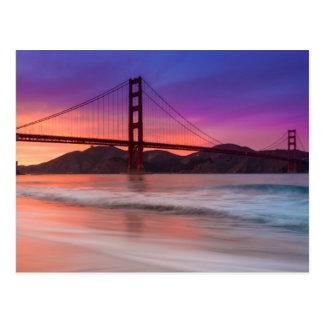 Una captura de puente Golden Gate de San Francisco Tarjeta Postal