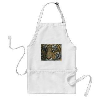 Una cara del tigre delantal