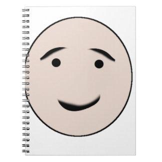 Una cara feliz cuaderno