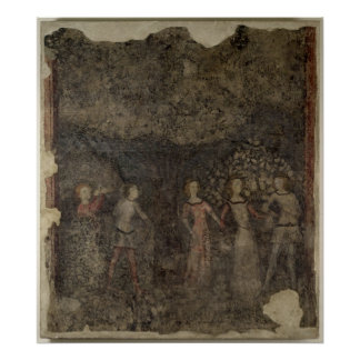 Una Carola, c.1380-90 Póster